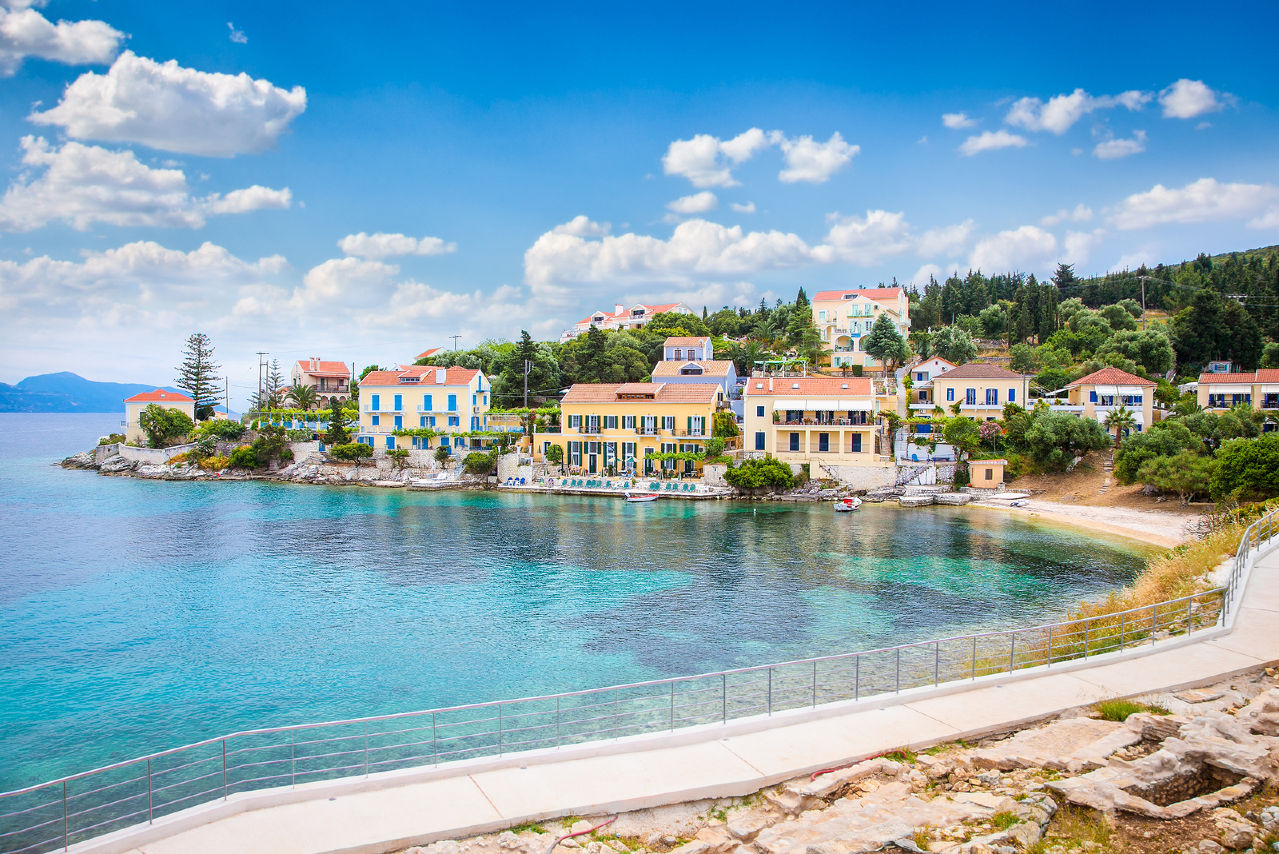 bigstock-Fiskardo-village-on-Kefalonia--85178579